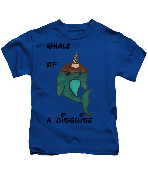 a Whale of a disguise Kids T-Shirt by Darci Smith