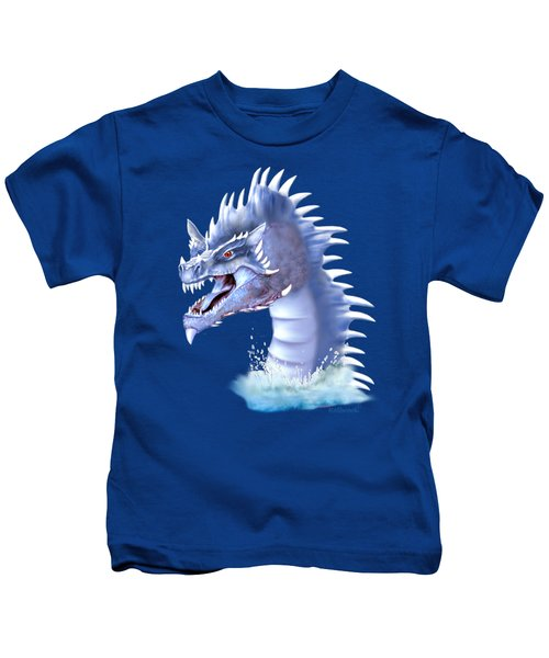 Arctic Ice Dragon Kids T-Shirt by Glenn Holbrook
