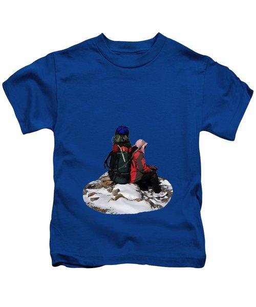 Himalayan Porter, Nepal Kids T-Shirt by Aidan Moran