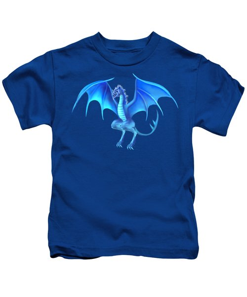 The Blue Ice Dragon Kids T-Shirt by Glenn Holbrook