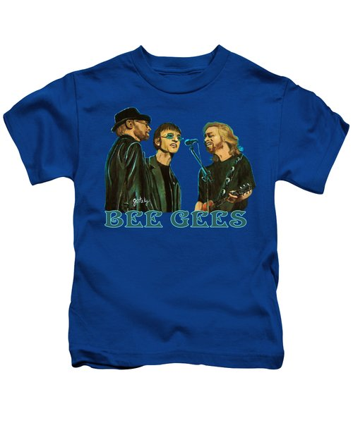 Bee Gees Kids T-Shirt by Paintings by Gretzky