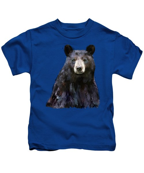 Black Bear Kids T-Shirt by Amy Hamilton