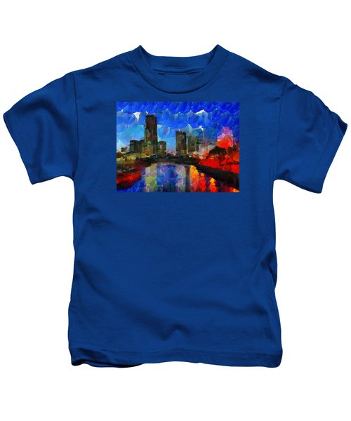 City Living - Tokyo - Skyline Kids T-Shirt by Sir Josef - Social Critic - ART