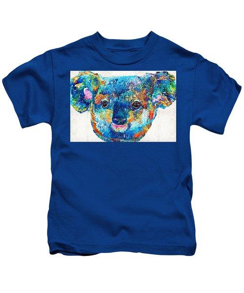 Colorful Koala Bear Art By Sharon Cummings Kids T-Shirt by Sharon Cummings