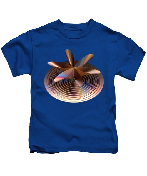 Copper Tones Kids T-Shirt by Linda Phelps