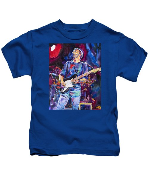 Eric Clapton And Blackie Kids T-Shirt by David Lloyd Glover