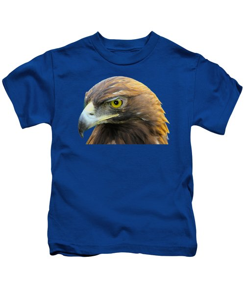Golden Eagle Kids T-Shirt by Shane Bechler
