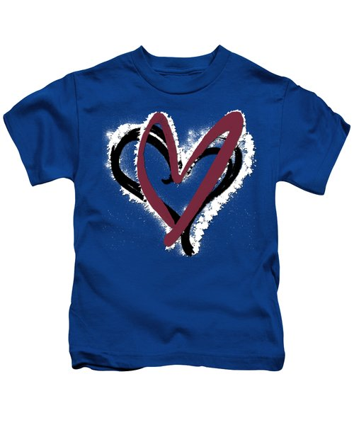 Hearts Graphic 6 Kids T-Shirt by Melissa Smith