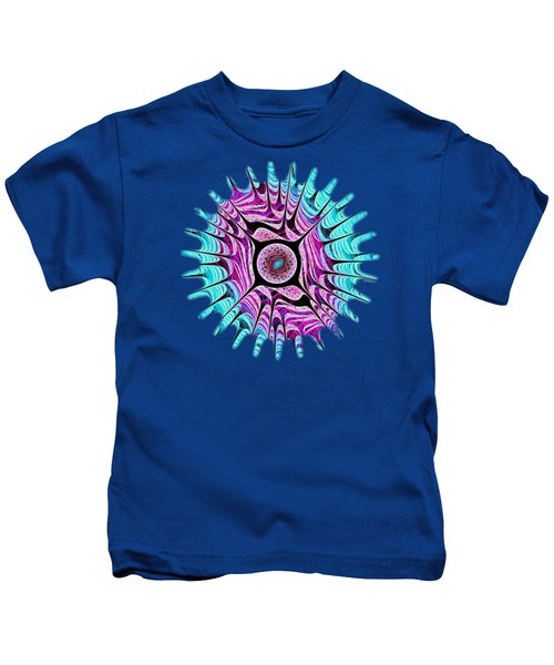 Ice Dragon Eye Kids T-Shirt by Anastasiya Malakhova