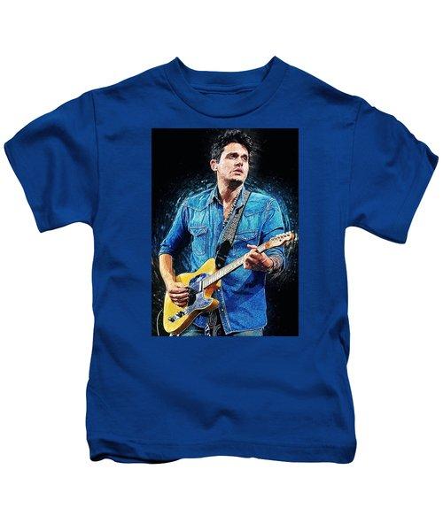 John Mayer Kids T-Shirt by Taylan Apukovska