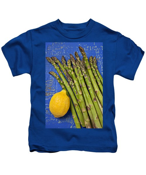 Lemon And Asparagus  Kids T-Shirt by Garry Gay