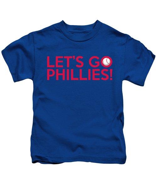 Let's Go Phillies Kids T-Shirt by Florian Rodarte