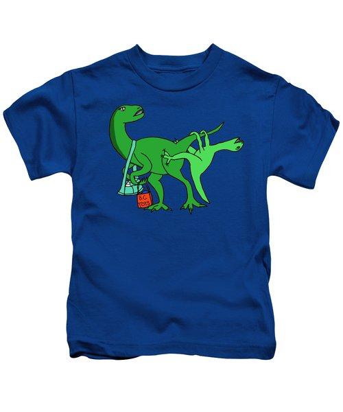 Mamasaurus Kids T-Shirt by Tamera Dion