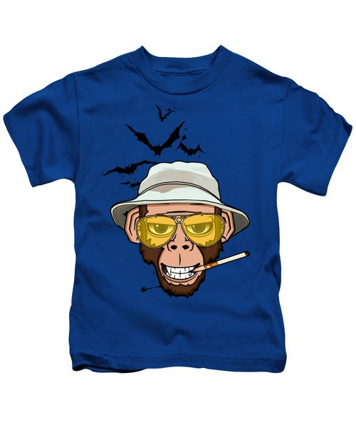 Monkey Business In Las Vegas Kids T-Shirt by Nicklas Gustafsson