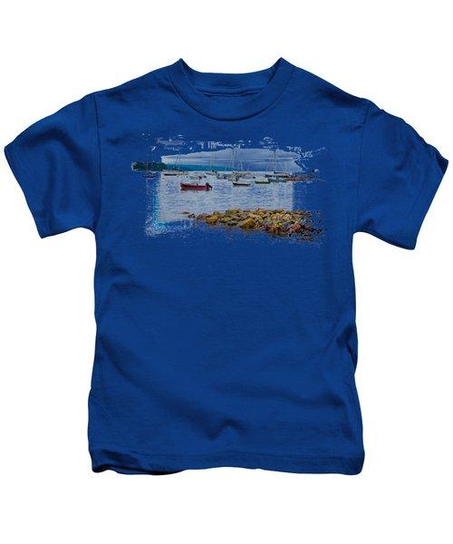 Moorings 2 Kids T-Shirt by John M Bailey
