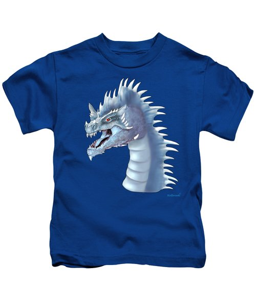 Mystical Ice Dragon Kids T-Shirt by Glenn Holbrook