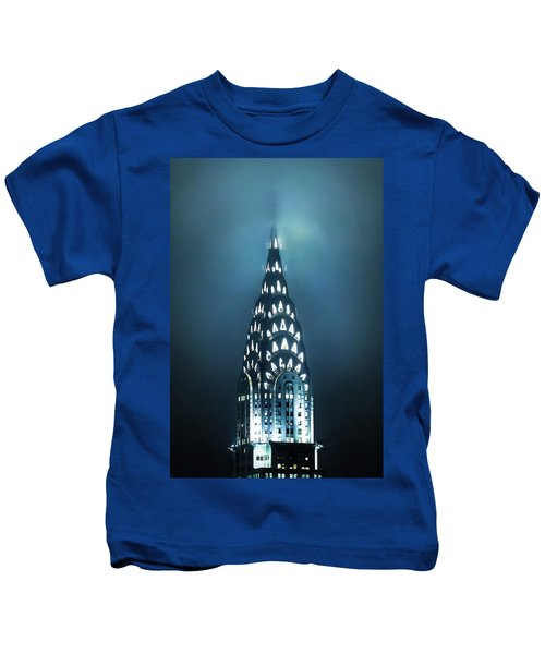 Mystical Spires Kids T-Shirt by Az Jackson