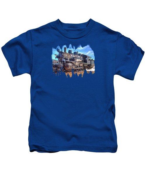 No. 25 Steam Locomotive Kids T-Shirt by Thom Zehrfeld