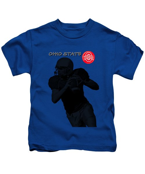 Ohio State Football Kids T-Shirt by David Dehner