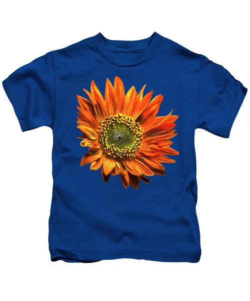 Orange Sunflower Kids T-Shirt by Christina Rollo