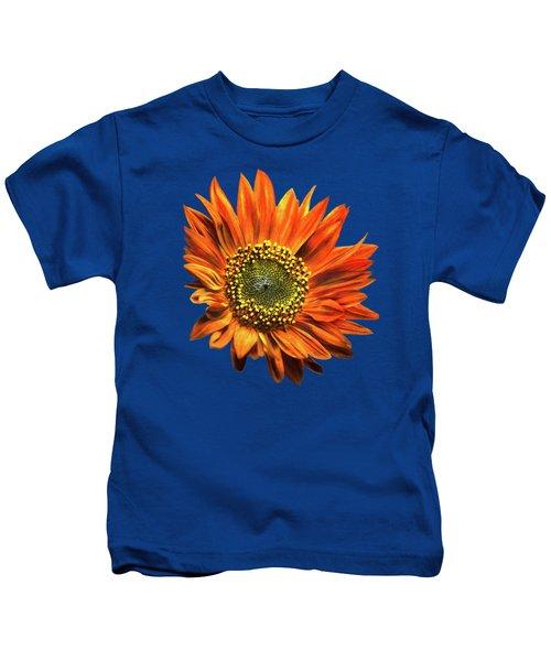 Orange Sunflower Kids T-Shirt by Christina Rollo