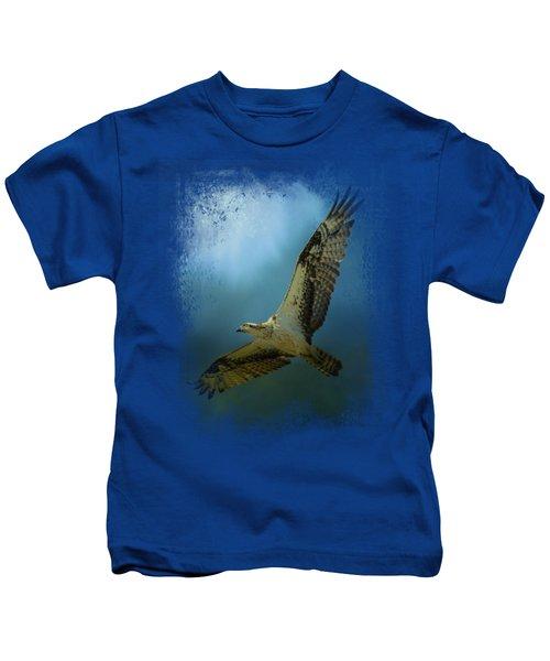 Osprey In The Evening Light Kids T-Shirt by Jai Johnson