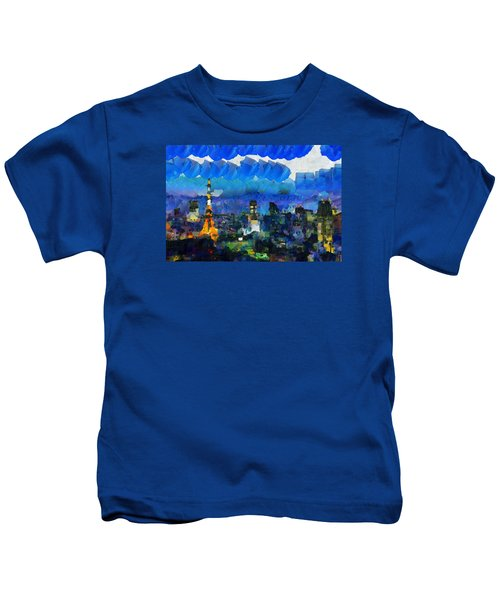 Paris Inside Tokyo Kids T-Shirt by Sir Josef - Social Critic - ART