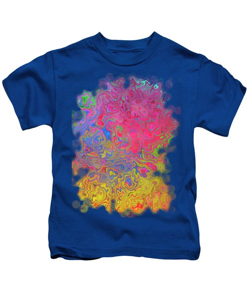 Psychedelic Laundry Transparent Design Kids T-Shirt by Shelly Weingart