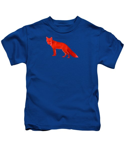 Red Fox Forest Kids T-Shirt by Movie Poster Prints
