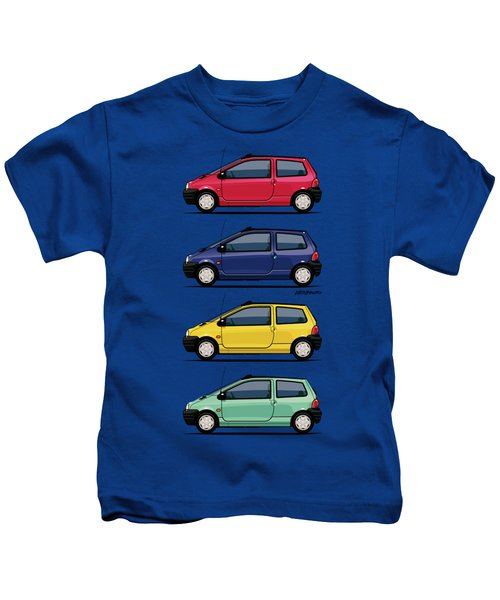 Renault Twingo 90s Colors Quartet Kids T-Shirt by Monkey Crisis On Mars