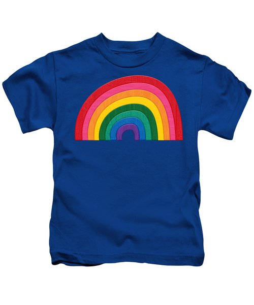 Somewhere Over The Rainbow Kids T-Shirt by Marisa Lerin
