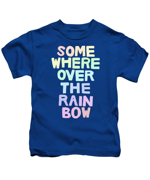 Somewhere Over The Rainbow Kids T-Shirt by Priscilla Wolfe