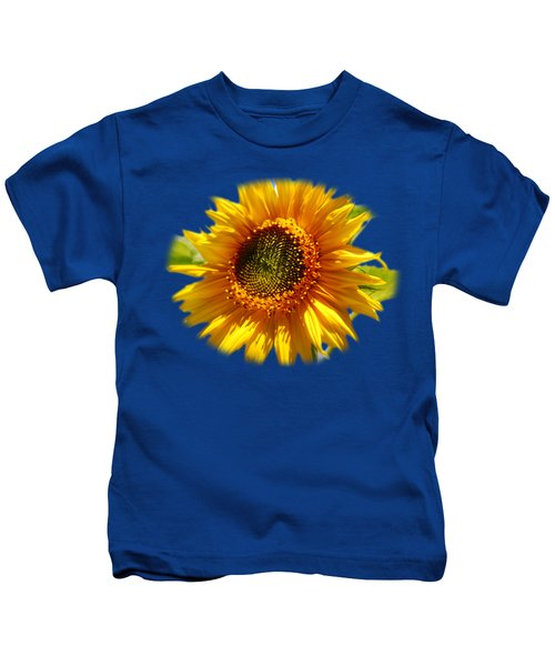 Sunny Sunflower Square Kids T-Shirt by Christina Rollo