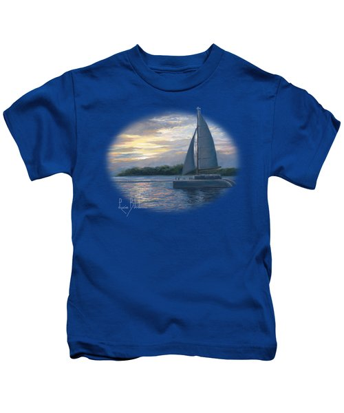 Sunset In Key West Kids T-Shirt by Lucie Bilodeau