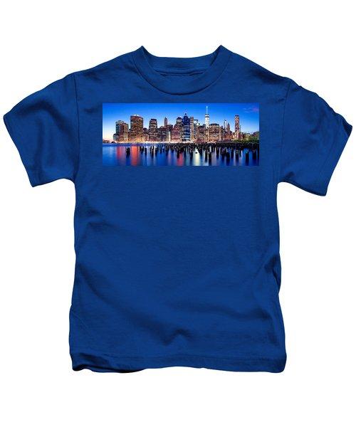 Magic Manhattan Kids T-Shirt by Az Jackson