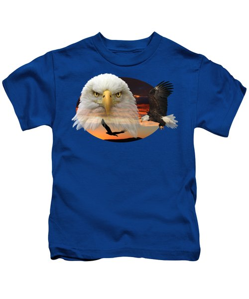 The Bald Eagle 2 Kids T-Shirt by Shane Bechler
