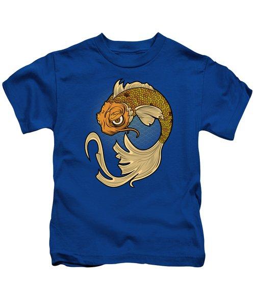 The Disgruntled Koi Kids T-Shirt by Laz Llanes