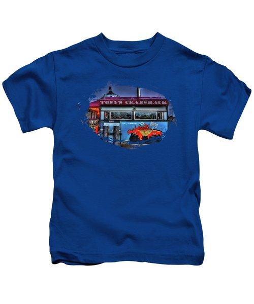 Tonys Crabshack Kids T-Shirt by Thom Zehrfeld