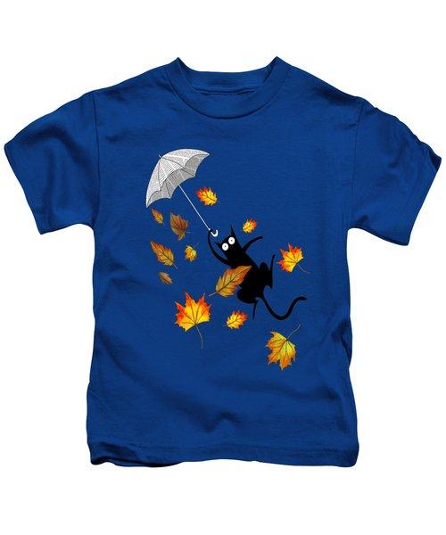 Umbrella Kids T-Shirt by Andrew Hitchen
