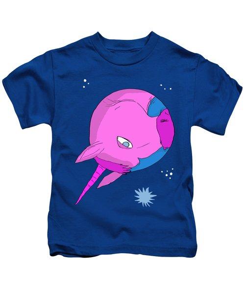 Unicorn Planet Kids T-Shirt by Brian Cattapan