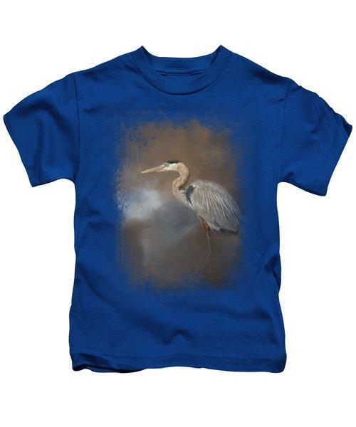Walking Into Blue Kids T-Shirt by Jai Johnson