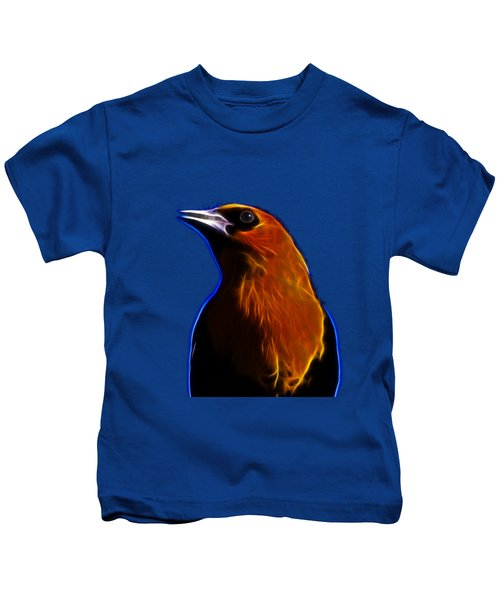 Yellow Headed Blackbird Kids T-Shirt by Shane Bechler