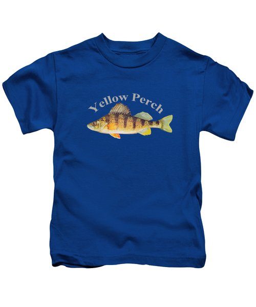 Yellow Perch Fish By Dehner Kids T-Shirt by T Shirts R Us -