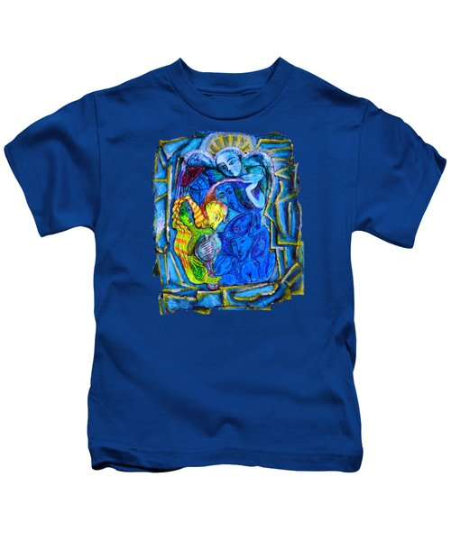 Yeti And The Mermaid Series I Don't You See? Kids T-Shirt by Joanna Whitney