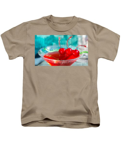 Shirley Temple Drink Kids T-Shirt by Iris Richardson