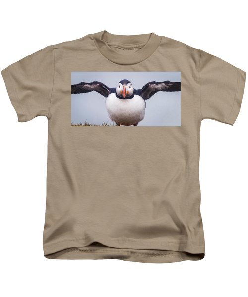 Atlantic Puffin Fratercula Arctica Kids T-Shirt by Panoramic Images
