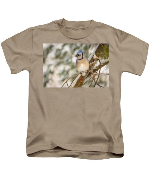 Blue Jay Kids T-Shirt by Everet Regal