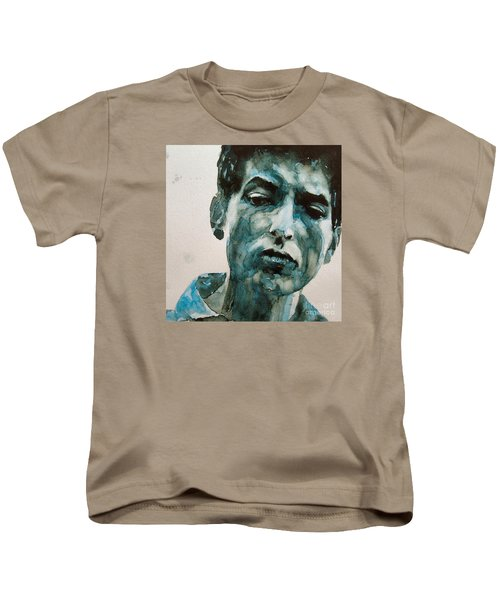 Bob Dylan Kids T-Shirt by Paul Lovering
