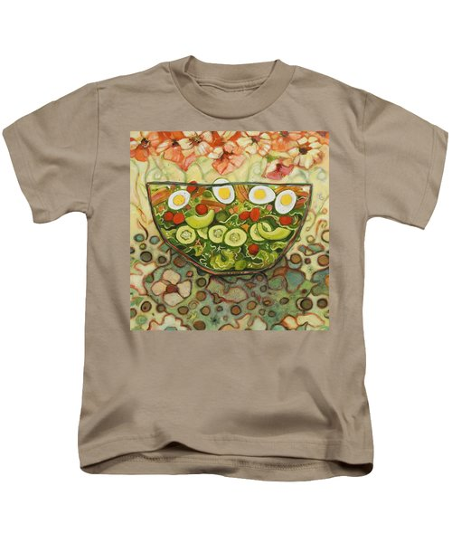Cool Summer Salad Kids T-Shirt by Jen Norton