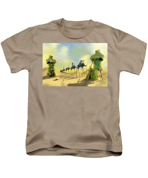 Dali On The Move  Kids T-Shirt by Mike McGlothlen